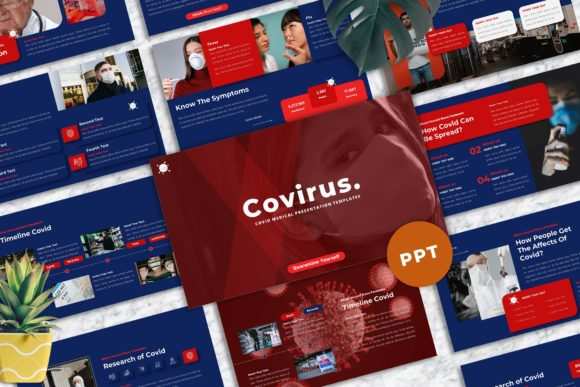 Covirus - Covid Medical  Powerpoint Graphic Presentation Templates By Yumnacreative