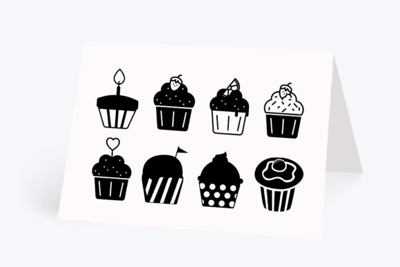 Print on Demand: Cupcake, 8 Designs Graphic Crafts By CarryBeautySVG