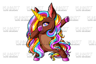 Dabbing Unicorn Graphic Crafts By Fundesings