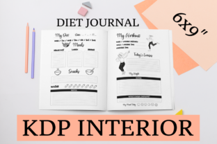 Print on Demand: Diet Journal | KDP Interior Grafik KPD Innenseiten von KDP Mastermind