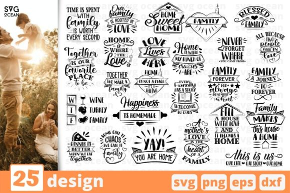 Family SVG Bundle Graphic Crafts By SvgOcean