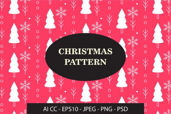Handrawn Christmas Pattern Graphic Patterns By GVL