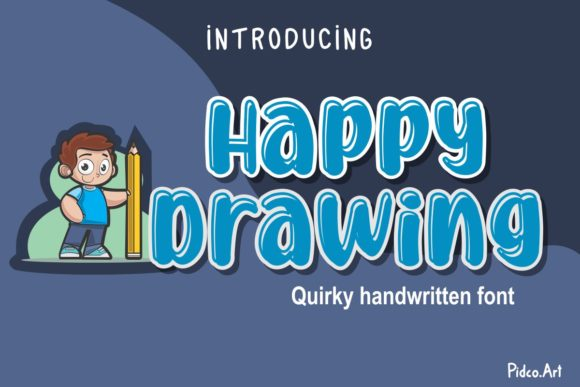 Print on Demand: Happy Drawing Display Font By Pidco.art