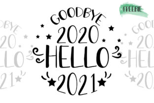 Happy New Year 2021 Ornament Graphic Print Templates By Tori Designs