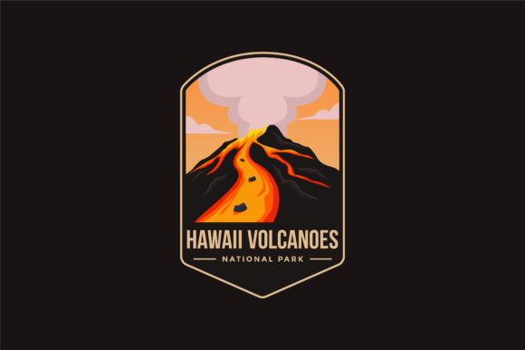 Hawaii Volcanoes National Park Logo Graphic Logos By DOMSTOCK