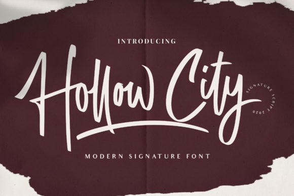Print on Demand: Hollow City Script & Handwritten Font By fontherapy