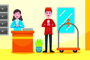 Hotel Receptionist Profession Graphic Illustrations By medzcreative