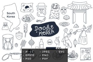 Korean Doodle Collection Bundle Graphic Illustrations By GVL