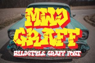 Print on Demand: MWD Graff Display Font By Prioritype