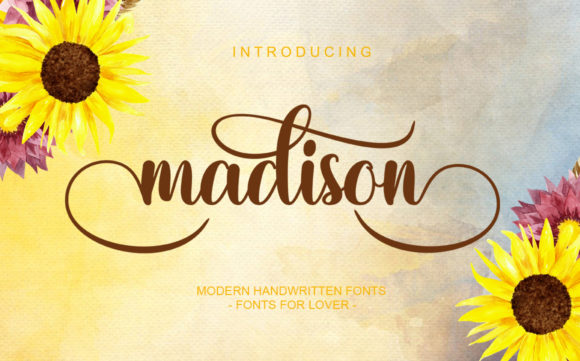 Print on Demand: Madison Script & Handwritten Font By Afnent Studio