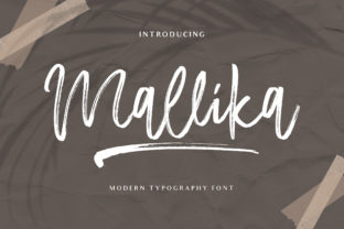 Print on Demand: Mallika Script & Handwritten Font By fontherapy