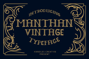 Print on Demand: Manthan Display Font By handles creative