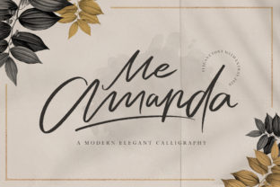 Print on Demand: Me Amanda Script & Handwritten Font By fontherapy