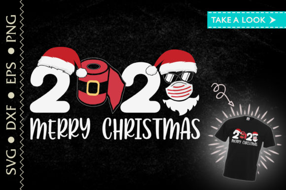 Merry Christmas 2020 Mask Paper Roll Graphic