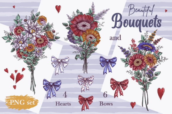 Romantic Gnomes at Valentine's Day. Hand-drawn Clipart. Graphic Item