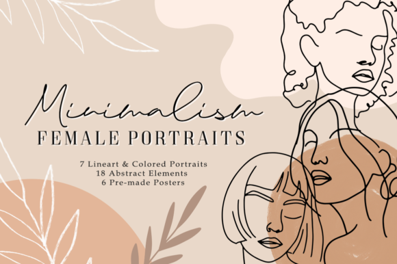Minimalism Female Portraits Abstract Graphic Illustrations By Naughty Pen