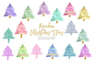 Print on Demand: Modern Christmas Tree Clipart Collection Graphic Illustrations By SunflowerLove