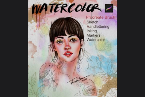 Procreate Watercolor Brush Graphic Brushes By tasmalee.art