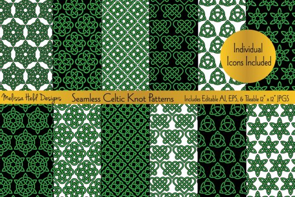 Seamless Celtic Knot Patterns Graphic Patterns By Melissa Held Designs