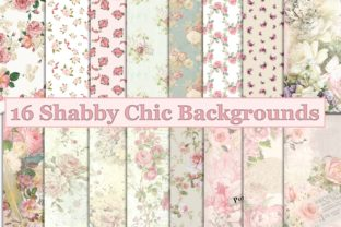 Print on Demand: Shabby Chic Backgrounds A4 Letter Size Graphic Backgrounds By The Paper Princess