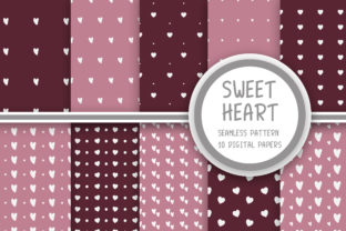 Print on Demand: Sweet Heart Seamless Pattern Graphic Patterns By PearlyDaisy