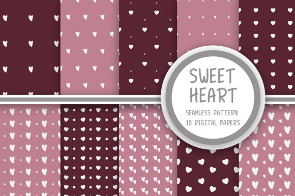 Sweet Heart Seamless Pattern Graphic Patterns By PearlyDaisy