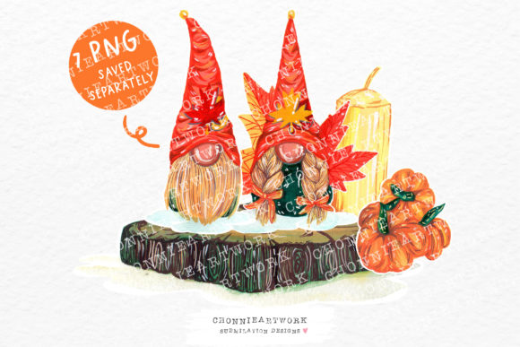 Thanksgiving Gnomes Graphic Crafts By Chonnieartwork