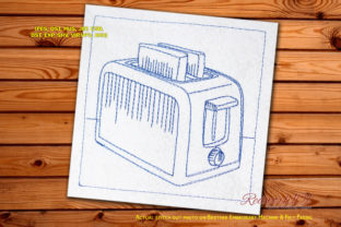 Toaster Design House & Home Quotes Embroidery Design By Redwork101