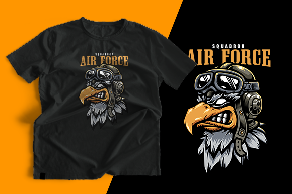 T-shirt Design - Eagle Aviator Graphic Print Templates By cithu09