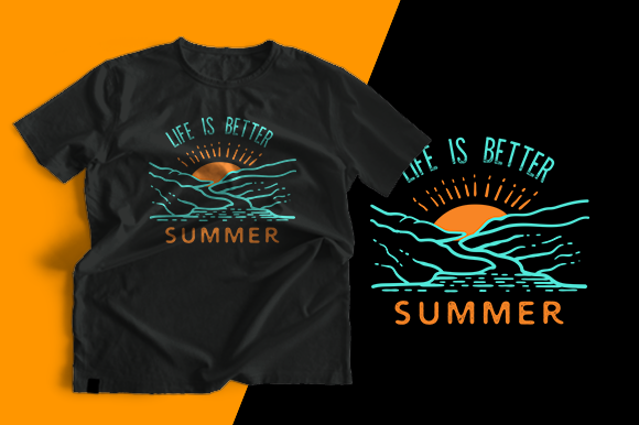 T-shirt Design - Summer Graphic Print Templates By cithu09