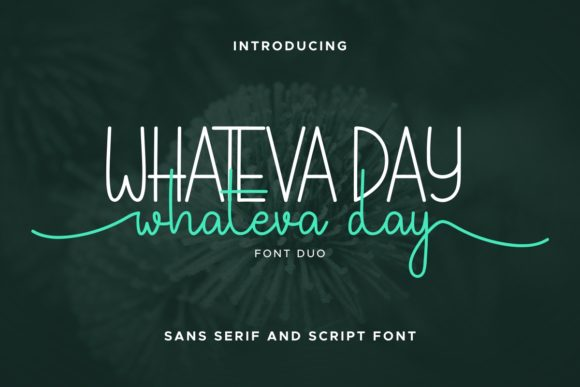 Print on Demand: Whateva Day Script & Handwritten Font By EdricStudio
