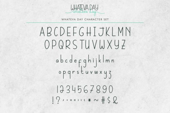 Whateva Day Font Preview