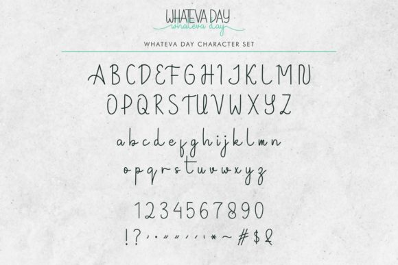 Whateva Day Font Downloadable Digital File