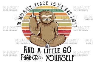 I'm Mostly Peace Love and Light Graphic Crafts By Fundesings