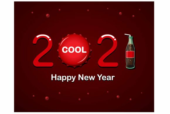 Print on Demand: 2021 Happy New Year with Soda Bottle Graphic Illustrations By aryo.hadi