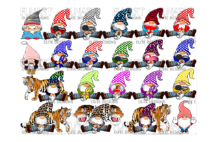 21 Gnomes Bundle Graphic Crafts By Fundesings