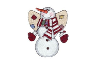 Angelic Snowman Jeremiah Winter Embroidery Design By Sew Terific Designs