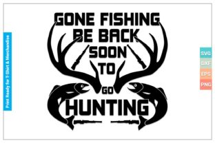 Be Back Soon to Go Hunting SVG Files Gráfico Crafts Por SVGitems