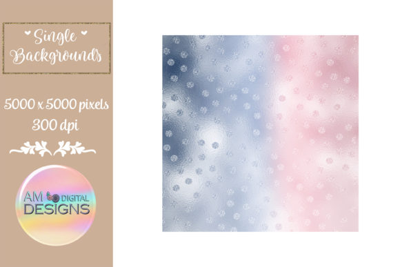 Berry Delight Gradient Foil Polka Dots Graphic Backgrounds By AM Digital Designs