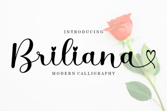 Print on Demand: Briliana Script & Handwritten Font By bosstypestudio