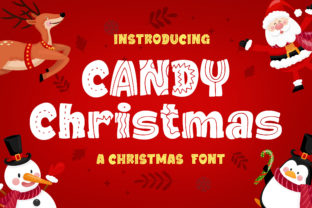 Print on Demand: Candy Christmas Display Font By Blankids Studio