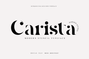 Print on Demand: Carista Serif Font By Haksen