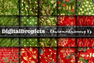 Christmas Greenery V3 | 24 PAPERS Graphic Backgrounds By FlyingMonkies