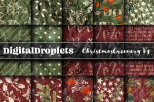 Christmas Greenery V4 | 24 PAPERS Graphic Backgrounds By FlyingMonkies