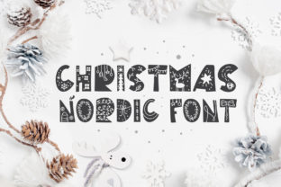 Print on Demand: Christmas Nordic Decorative Font By Happy Letters