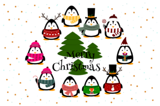 Christmas Penguin Vector Graphics Graphic Illustrations By Igraphic Studio