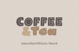 Print on Demand: Coffee & Tea Display Font By WADLEN