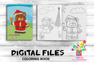 Print on Demand: Coloring Book Christmas Bears Activities Graphic Coloring Pages & Books Kids By marilakits