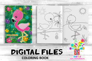 Print on Demand: Coloring Book Flamingo Activities Pages Graphic Coloring Pages & Books Kids By marilakits