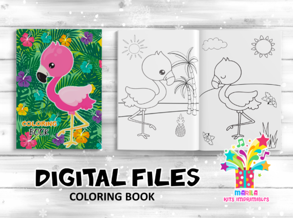 Coloring Book Flamingo Activities Pages Graphic Coloring Pages & Books Kids By marilakits